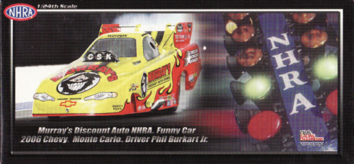 Phil Burkart Jr. 2006 Murray's Discount Auto Chevy Monte Carlo NHRA Funny Car