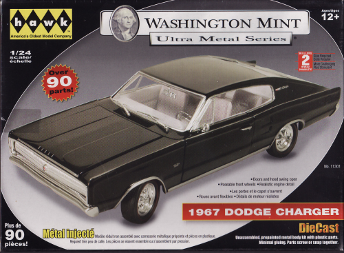 1967 Dodge Charger Waschington Mint Serie Metallbausatz