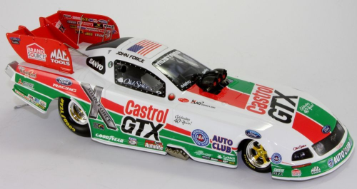 John Force Castrol Retro 2008 Mustang Funny Car