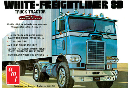 White Freighliner SD Truck Tractor