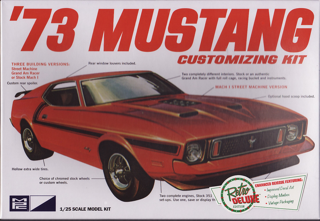 1973 ford mustang customizing kit 3in1 u s car models. Black Bedroom Furniture Sets. Home Design Ideas