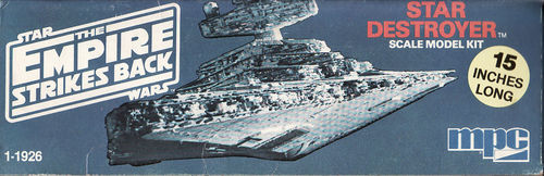Star Wars Star Destroyer Original Bausatz von 1980 (380mm Lang)alter Bausatz