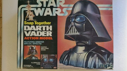 Star Wars Darth Vader Action Model Snap Kit Büste von Darth Vader Original Bausatz von 1978 sehr Sel