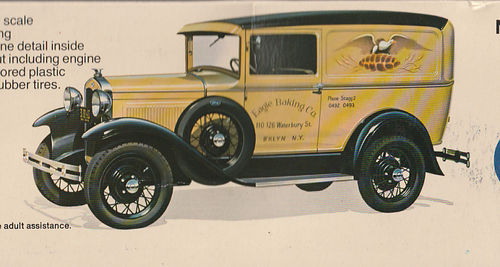 1031 Ford Model A Deluxe Van 1/16