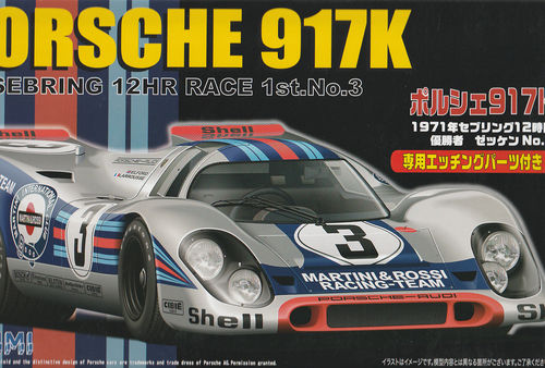 Porsche 917 K 1971 Sebring 12 HR Race 1st No3 ,, MARTINI '' mit Fotoätz Parts