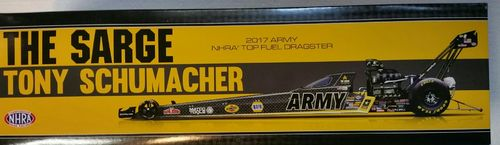 The SARGE Tony Schumacher 2017 ARMY Top Fuel Dragster