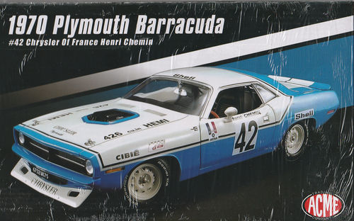 1970 Plymouth Barracuda #42 Chrysler of France Henri Chemin Limitiert 1 of 696